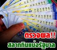 ตรวจสลากกินแบ่งรัฐบาล 30 ธันวาคม 2554